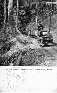 Electric Tramway Bohemia Mine, Cottage Grove, Oregon. Cottage Grove Oregon, Old Time Photos, Visit Oregon, Oregon Washington, State Of Oregon, Unusual Things, Landscape Wallpaper, Historical Pictures, Covered Bridges