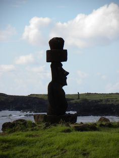 Easter Island statue Easter Island Statues, Galapagos Islands, Mother Nature, Earth, World, Places, Photography, Travel, Island