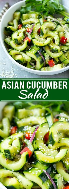 Asian Cucumber Salad Recipe | Sesame Cucumber Salad | Cucumber Salad | Healthy Salad | Healthy Cucumber Recipe  Want to try this. It is very simple, but must be refreshing. This salad can bring some perfect notes to your dinner