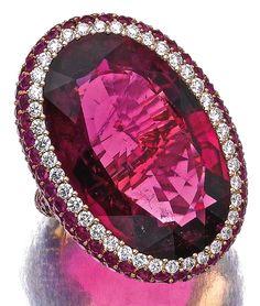 Rubellite, ruby and diamond ring, Michele della Valle
