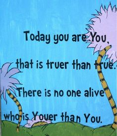 Dr. Suess's birthday March 2nd!  What a brilliant author!