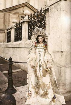 Wedding Luxe: LaCroix Wedding Gown in Harper's Bazaar