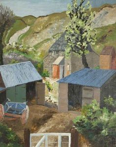 Sir Cedric Morris - The Farmyard, Dorset. Famous Landscape Paintings, Cool Landscapes, Your Paintings, Watercolor Landscape, Landscape Art, Museum Art Gallery, Art Society, Art Uk, Art And Technology