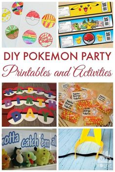 DIY Pokemon Party Crafts, Printable sand Activities.  DIY Pokemon Party Ideas - Celebrate all things Pokemon with these fab party food ideas, themed printables and games to make your Pokemon party amazing