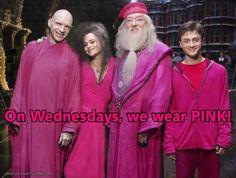 On Wednesdays, we wear pink.    Harry Potter / Mean Girls