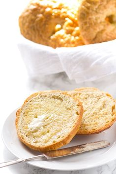 These dense and chewy homemade bagels are addicting. They are perfect with butter, jam, or cream cheese. They're perfect for a breakfast sandwich too!