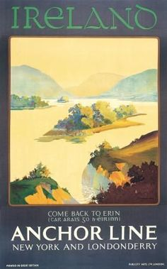 Ireland Anchor Line Travel Poster