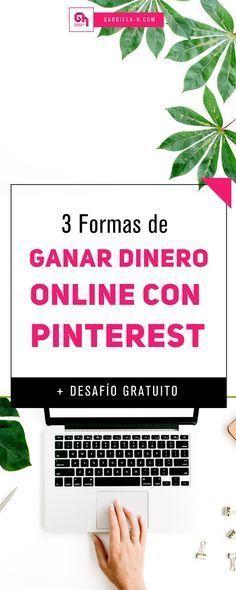 Si estas buscando como ganar dinero online, Pinterest siempre será tu mejor aliado. En este post te comparto 3 formas para monetizar Pinterest + un desafio gratuito para que sepas cómo exprimir esta super herramienta. #emprendedoras #emprender #ganardinero #pinterestmarketing #pinterestespañol