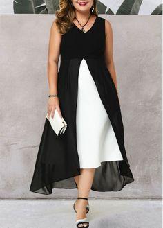 Cheap plus size dresses Plus size dresses online for sale Plus Size Maxi Dresses, Dresses For Sale, Dresses Online, V Neck Dress, Lace Dress, Moda Xl, Chiffon Cardigan, Spandex Dress, Patchwork Dress