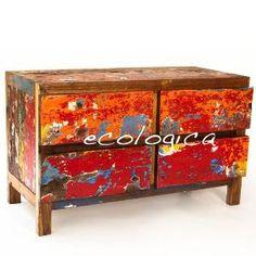 FourDrawer Dresser \  Chest \  TV Console by EcologicaMalibu on Etsy