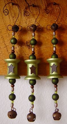 Vintage Spool Ornaments, pretty easy to make.