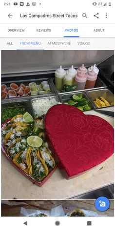 [Found] A heart shaped box full of street tacos.Food for Healthy Living Home Remedy for Healthy Living Chef Recipes, Food Network Recipes, Cooking Recipes, Street Tacos, Aesthetic Food, Food Cravings, Meals For One, Junk Food, Food Pictures