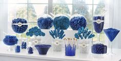 Royal Blue Candy Buffet Supplies - Royal Blue Candy & Containers - Party City
