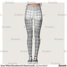 Shop Gray White Houndstooth Check High Fashion Leggings created by LeonOziel. Geometric Fashion, Leggings Fashion, Look Cool, Houndstooth, Dressmaking, Things That Bounce, High Fashion, Shop Now, Cool Designs