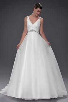 Rainbow Wedding Dress, Making A Wedding Dress, Wedding Dress Organza, Lace Wedding Dress With Sleeves, Classic Wedding Dress, White Wedding Dresses, Bridal Gowns, Wedding Gowns, Empire Wedding Dresses