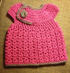 Adorable crochet baby dress