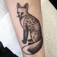Mandala fox tattoo by Josh Foulds