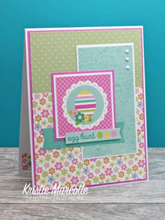 The best things in life are Pink.: Doodlebug Design's Easter Express - 36 cards from one 6x6 paper pad