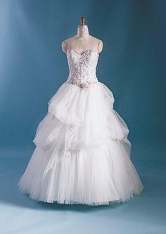 Belle inspired wedding dress from 2015 Disney's Fairy Tale Weddings by Alfred Angelo