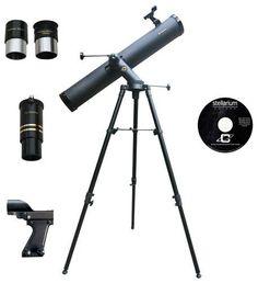 Cassini - Tracker Series 120mm Reflector Telescope - Black