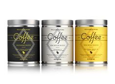 Williams and Sonoma Coffee packaging by Pavement.