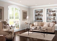 Behr paint ASHEN TAN(N220-2), greige, neutral paint, contemporary color, living room paint color, transitional color