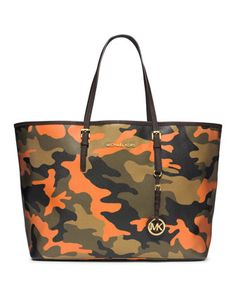 MICHAEL Michael Kors  Medium Jet Set Camo Travel Tote. New for 2014.