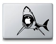 Great White Shark MacBook Decal - Animal Ocean Mac iPad Laptop Vinyl Decal Sticker