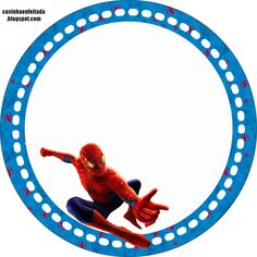 Toppers o Etiquetas para imprimir gratis de Spiderman.