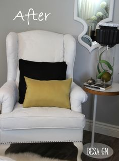 Ever since entering the world of blogland I have seen quite a few painted wing chairs and sofas from bloggers out there, and many of them are quite fantastic. While I was convinced that paint can f...