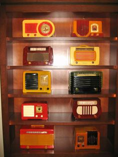 Major Collection of 140+ Catalin & Bakelite Radios from 1930's & 1940's   From a unique collection of antique and modern decorative objects at http://www.1stdibs.com/furniture/more-furniture-collectibles/decorative-objects/