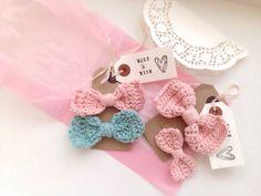 Ballerina crochet hair bows