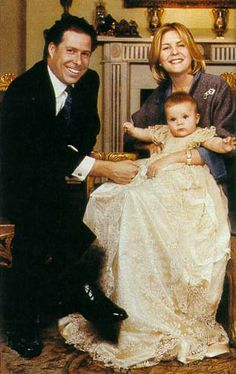 Charles Armstrong-Jones christened (born to  David Armstrong-Jones, Viscount Linley and Lady Serena 1999)