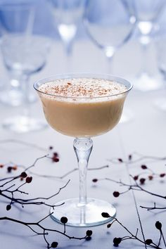 Brandy Alexander Cocktail - brandy (or cognac), crème de cacao and cream. Cocktail photography by Paul S. Bartholomew. Styling by Andrea Bartholomew.