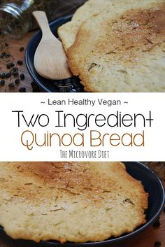 At last, at last, the Two Ingredient Quinoa Bread has been posted! Everytime I post a meal containing this golden brown seduction it steals aaalll the attentio