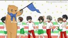 What a scene! So many things are happening. Look how dovey Misaki and usagi are. And how Hiro is making a fuss and Nowaki is trying to calm him down. Then you have I'm not sure if its terrorist or ondera And takano but seme is just like. No. Mine.lol