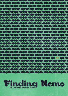 Minimal Movie Posters — Finding Nemo by Matt Bacon anonymous' request Minimal Movie Posters, Minimal Poster, Cool Posters, Film Posters, Posters Tumblr, Disney Art, Disney Movies, Pixar Movies, Walt Disney