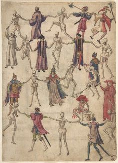 danse macabre - Death of dance conveys notion that → regardless of rank or status, death comes to all people and to each person.