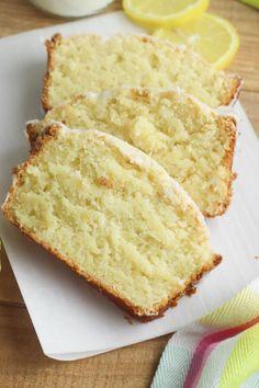 Lemon Pound Cake With Glaze Recipe, Sour Cream Pound Cake, Pound Cake Recipes, Easy Cake Recipes, Pound Cakes, Bread Recipes, Dessert Recipes, Cooking Recipes, Lemon Desserts