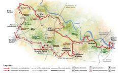 Percorso principale de La Via dei Cairoli, il programma territoriale nella Valle del Ticino dell'Associazione Uomo e Territorio Pro Natura