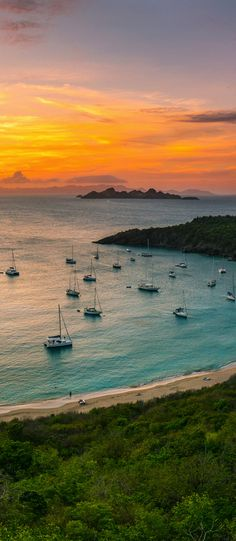 Aerial view of the sailboats and #shoreline. Anse a Colombier, St. Barths, French Antilles
