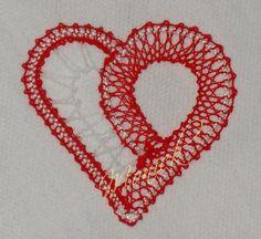 coeur dentelle aux fuseaux