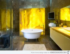 15 Charming Yellow Bathroom Design Ideas