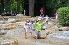 Speeltuin in Luxemburg met kinderen