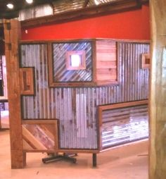 4th/5th room - corrugated metal w/interchangeable bottom lines