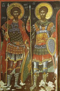 "Photo from album ""Тирон"" on Yandex. Byzantine Icons, Byzantine Art, Angel Sculpture, Archangel Michael, Art Icon, Orthodox Icons, Christian Art, Illuminated Manuscript, Roman Empire"