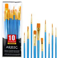 Option for Paintbrushes; week 4 Acrylic Paint Brushes, Paint Brush Art, Artist Painting, Watercolor Paintings, Easy Drawings For Beginners, Wall Treatments, Amazon Art, Hair Brush, Sewing Stores