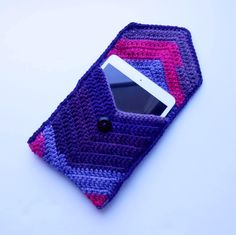 Crochet Ipad Mini Cover, Tablet Case, Chevron Ipad Sleeve, Pink and Purple Ipad Mini Cover by BarberrySparrow on Etsy https://www.etsy.com/listing/510133228/crochet-ipad-mini-cover-tablet-case