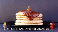 CON VIDEO. COCINA FÁCIL Y SANA. Receta saludable de esponjosas tortitas americanas (pancakes o panqueques) baja en calorías y apta para diabéticos (sin azúcar).