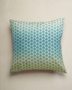 Emerging Materials Trend: Rendered - WGSN - Aqua Ombre Silk Cushion